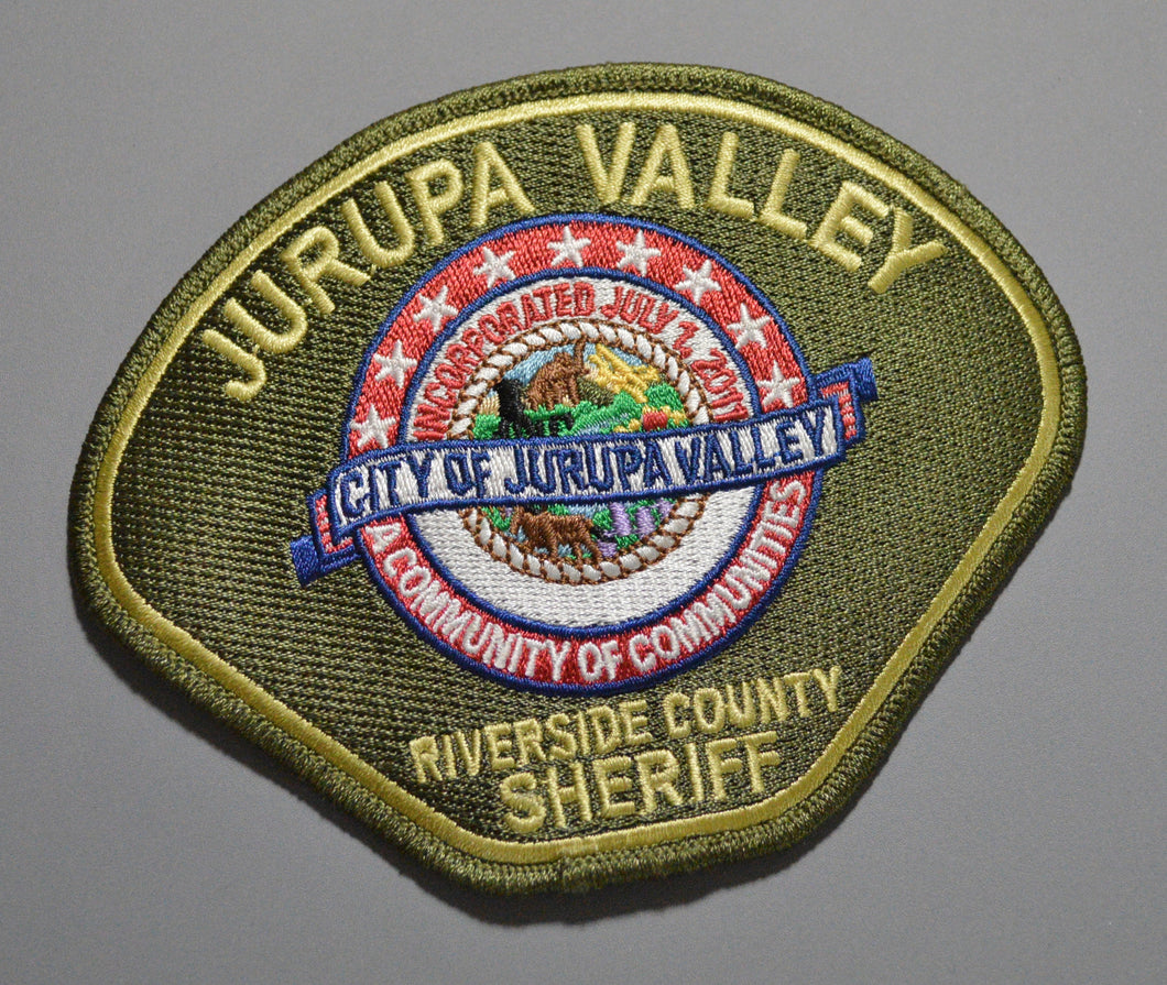 Jurupa Valley California Police Patch (Used)