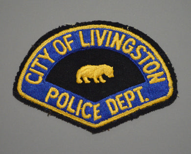 Livingston California Police Patch ++ Rare 1st Issue CA
