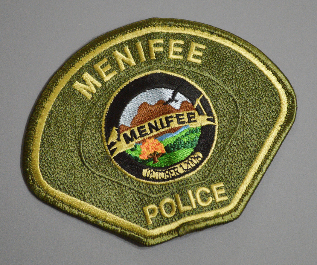 Menifee California Police Patch ++ Riverside County CA