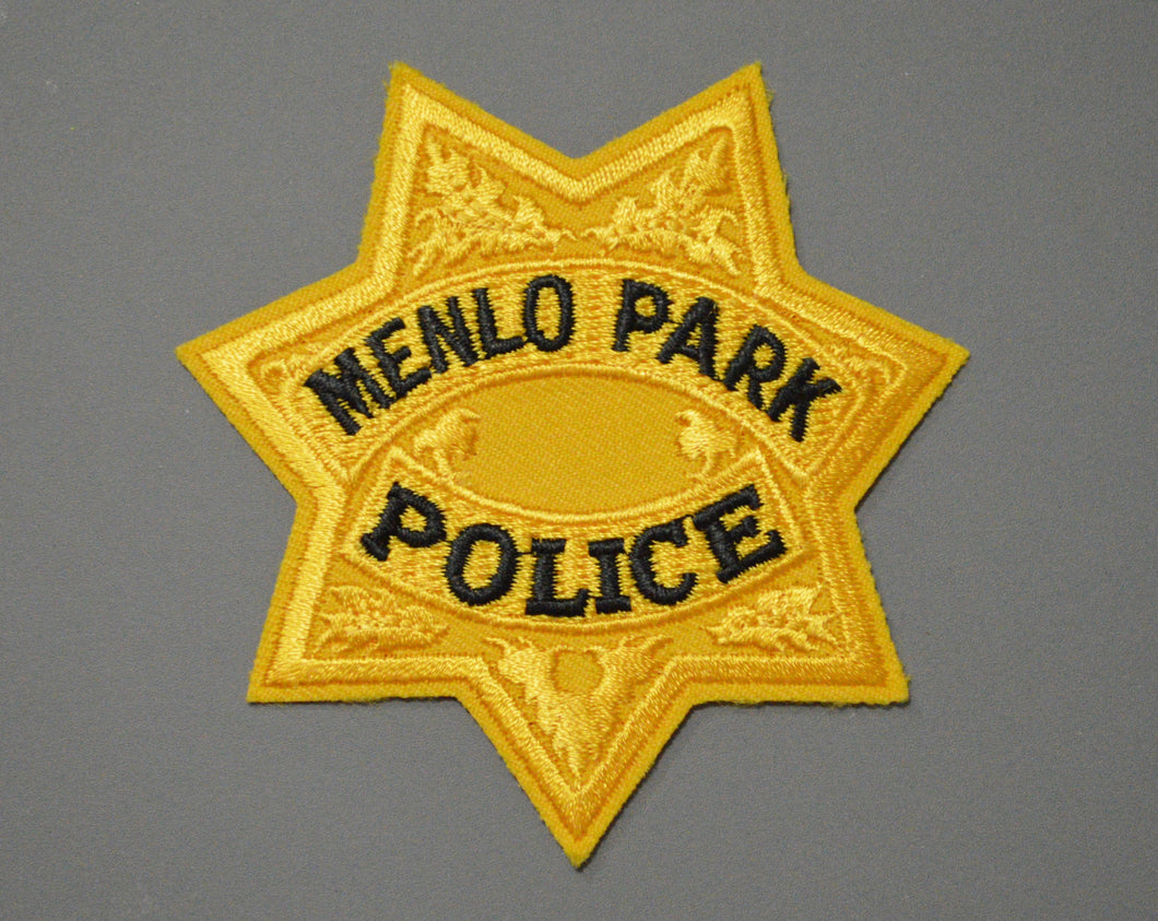 Menlo Park California Police Gold Badge Patch