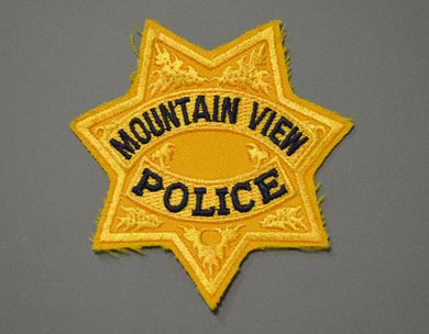 Mountain View California Police Gold Badge Patch