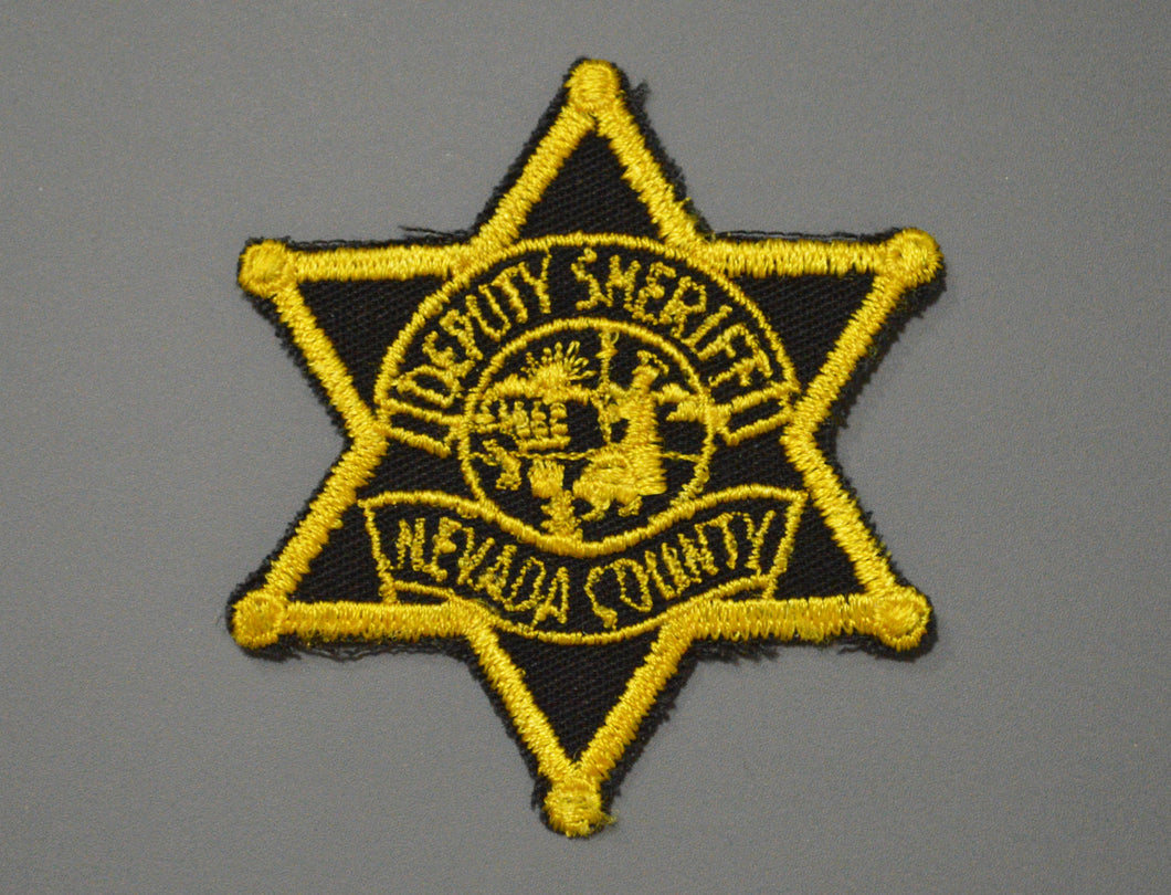 Nevada County California Deputy Sheriff Badge Patch