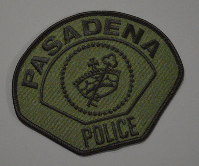 Pasadena California Police Subdued (K9/SWAT) Patch