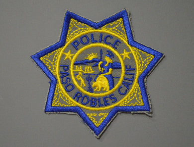 Paso Robles California Police Badge Patch
