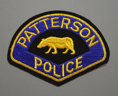 Patterson California Police Patch ++ 1st Issue on felt Mint CA