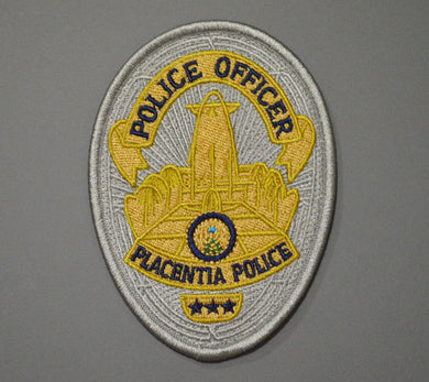 Placentia California Police Officer Badge Patch