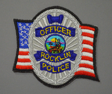Rocklin California Police Officer Badge Patch