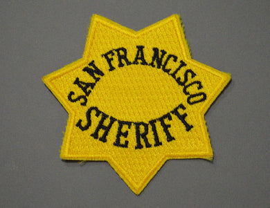 San Francisco Sheriff Gold Badge Patch