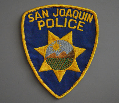 San Joaquin California Police Patch ++ Defunct Issue CA