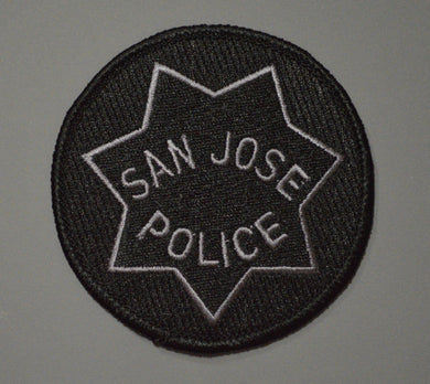 San Jose California Police Subdued black Badge Patch