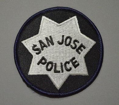 San Jose California Police Round Badge Patch