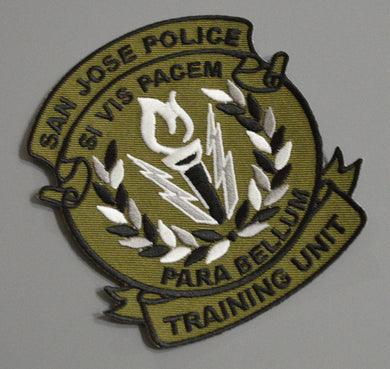 San Jose Police Training Unit Patch (New 2016 issue)