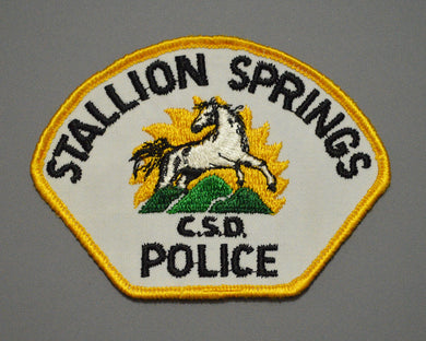 Stallion Springs California Police Patch ++ Rare 1st Issue CA