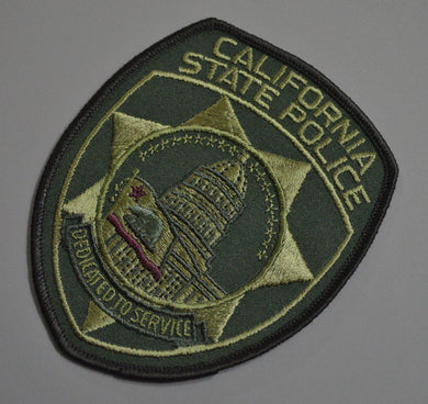 California State Police Subdued version (SWAT) Patch
