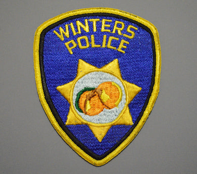 Winters California Police Patch ++ o/s Peach Mint CA