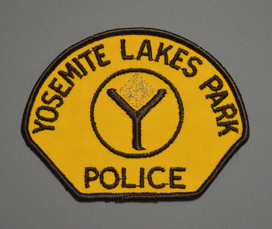 Yosemite Lakes Park California Police Patch ++ Defunct Mint CA