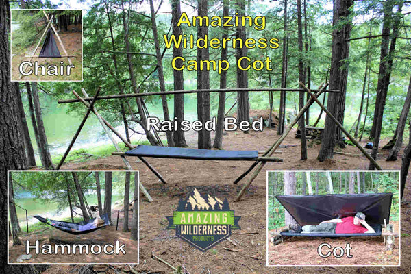 Amazing Wilderness Camp Cot as a Bed Hammock and Chair