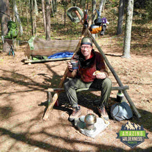 Amazing Wilderness Bushcraft Chair Setup On Campsite