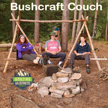 Amazing Wilderness Bushcraft Couch Using Camp Chairs