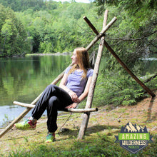 Amazing Wilderness Camp Hammock Bushcraft Chair Lakeside