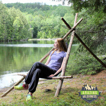 Amazing Wilderness Camp Cot As A Bushcraft Chair Black