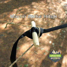 Hammock Suspension System Using Marlin Spike Hitch