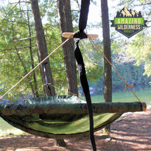 Hammock Suspension System Using Marlin Spike Hitch Camouflage