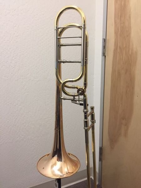 Demo Shires Q Tenor Trombone Spring cleaning! Yellow Brass Bell