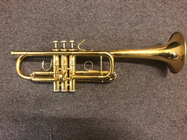 Gold Plated Bach Stradivarius C Trumpet