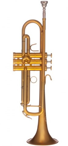 B&S MBX3 Heritage Bb Trumpet Brushed Gold Lacquer