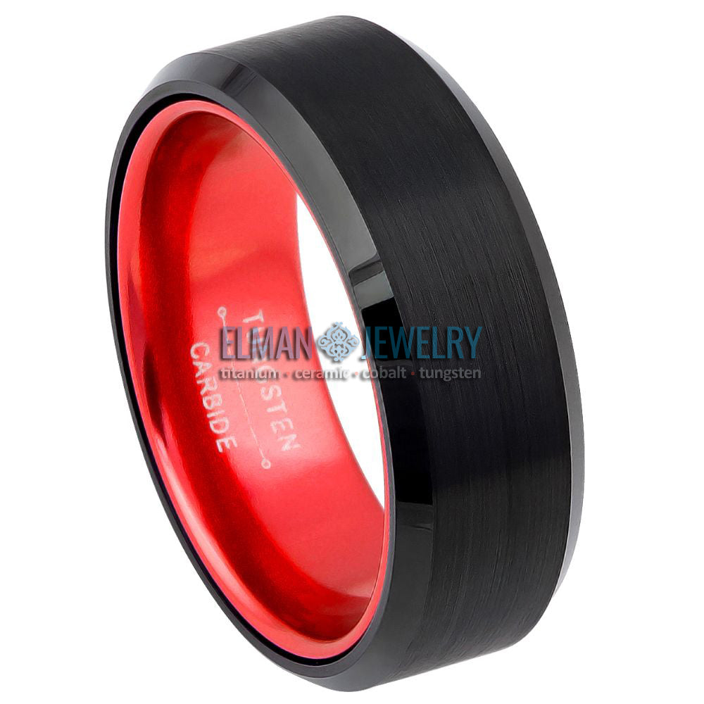 anodized aluminum ring, red inside ring