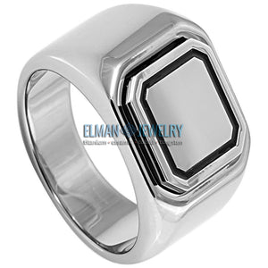 High Polished Tungsten Signet Ring
