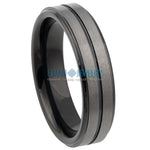 6mm Black IP Plated Tungsten Wedding Ring