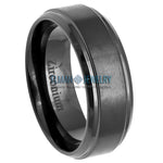black zirconium ring, men's zirconium ring