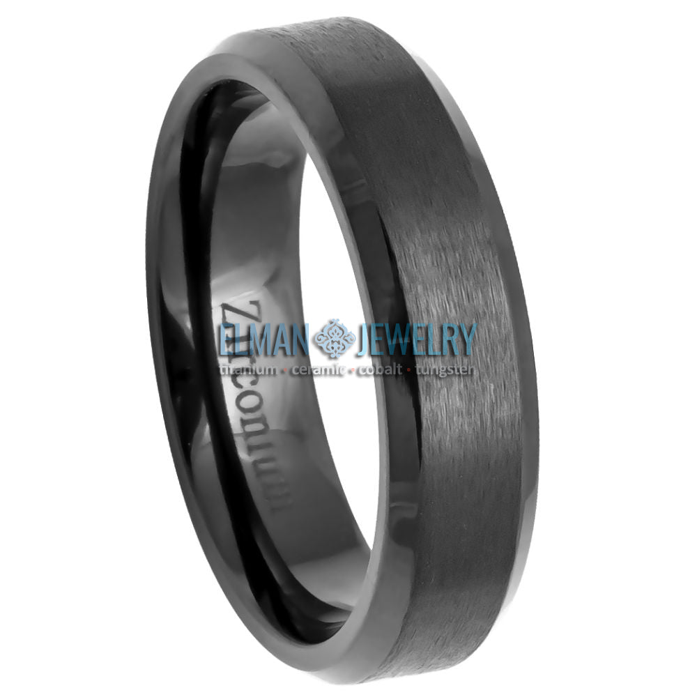 zirconium wedding band