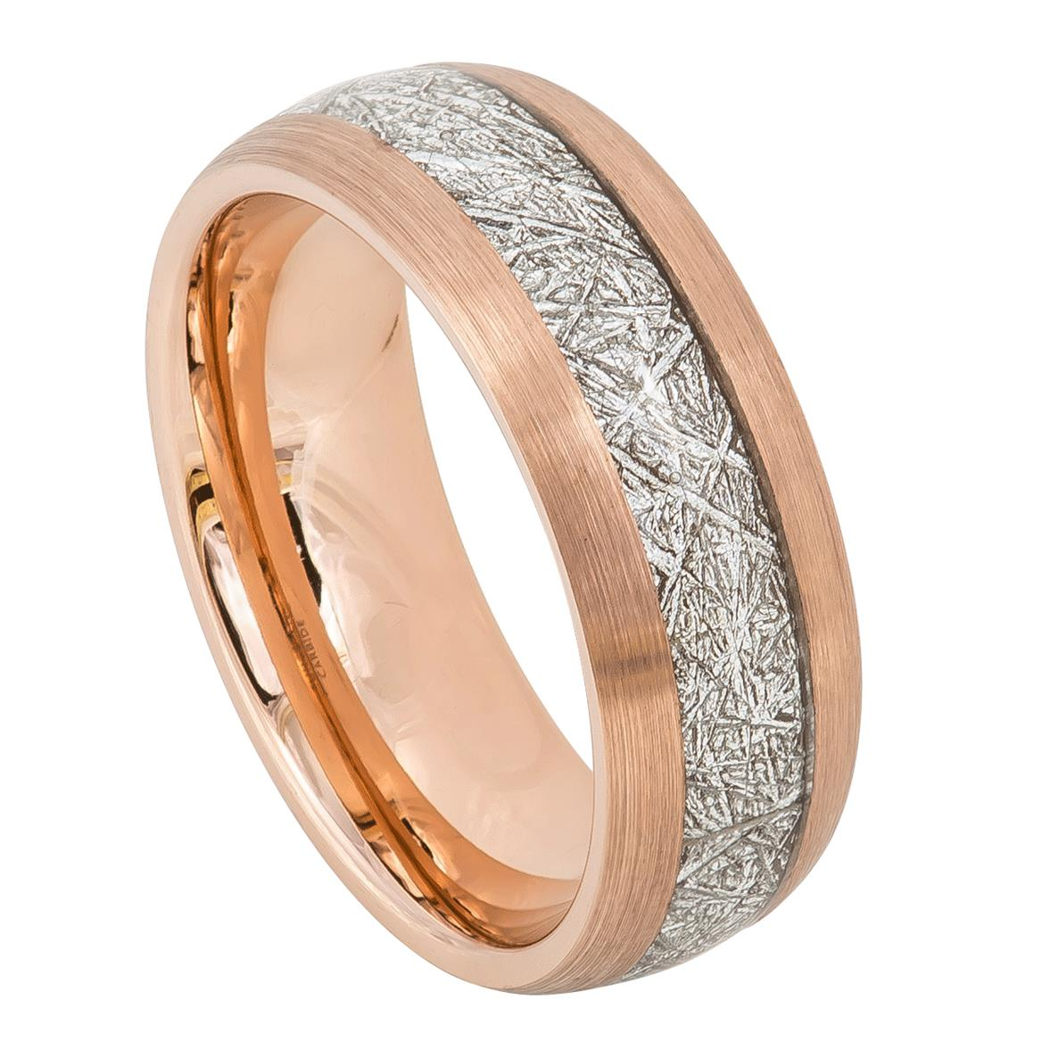 Meteorite Ring, ip rose gold