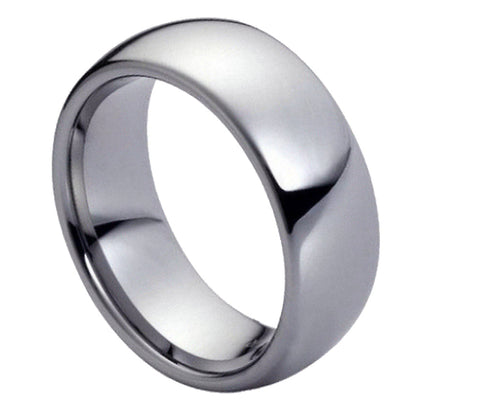 7mm Tungsten Ring Domed High Polish Classic Band