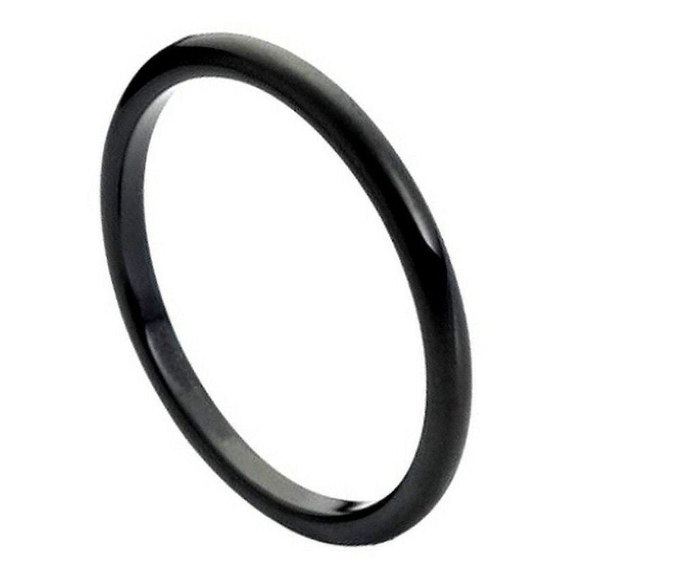 tungsten metal rings, 2mm thin band