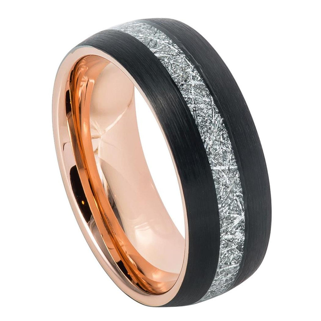 meteorite ring, tungsten band