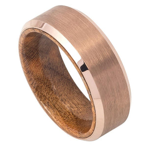 ip rose gold, tungsten carbide rings