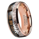 rose gold tungsten ring