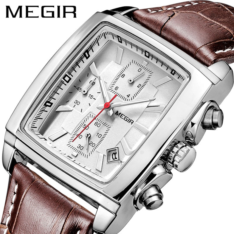 MEGIR Men's Waterproof Quartz Military Style Watch