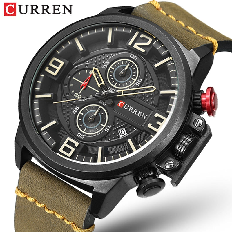 CURREN Men's Casual Sport Quartz Chronograph Watch