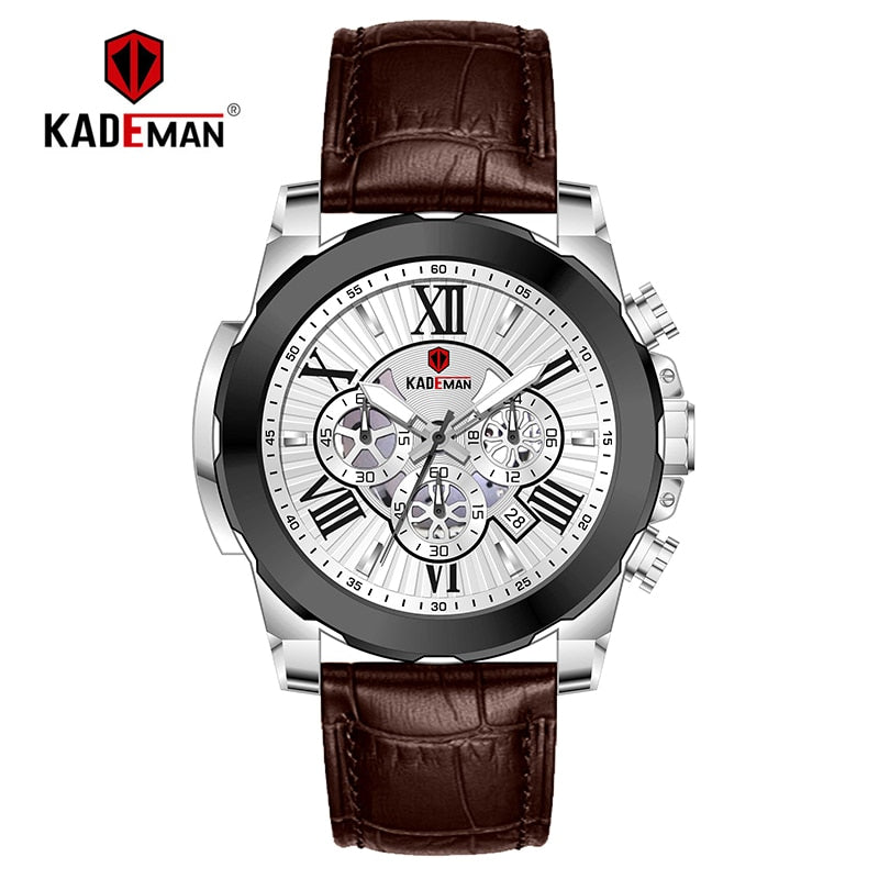 KADEMAN 848 Men's Waterproof Chronograph Calendar Watch