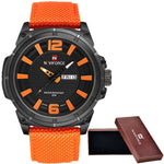 NAVIFORCE Men's Luxury Military Quartz Watch Sports Date Clock