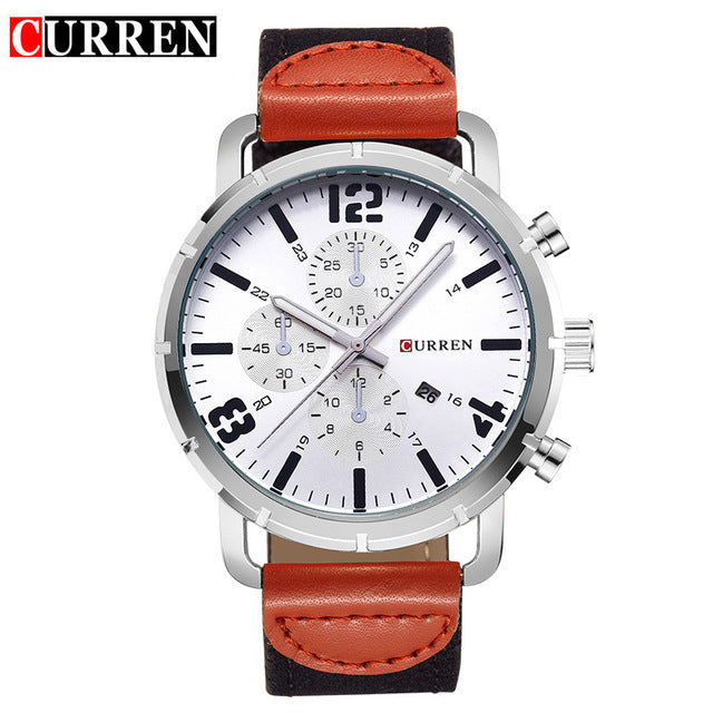 Men Analog Quartz Watch Military Sport Style CURREN 8194