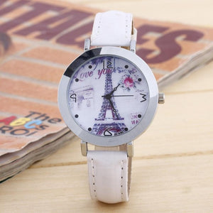 2017 Ladies Watch Women Fashion Leater Band Women Quartz Wrist Watch High Quality Watches Women
