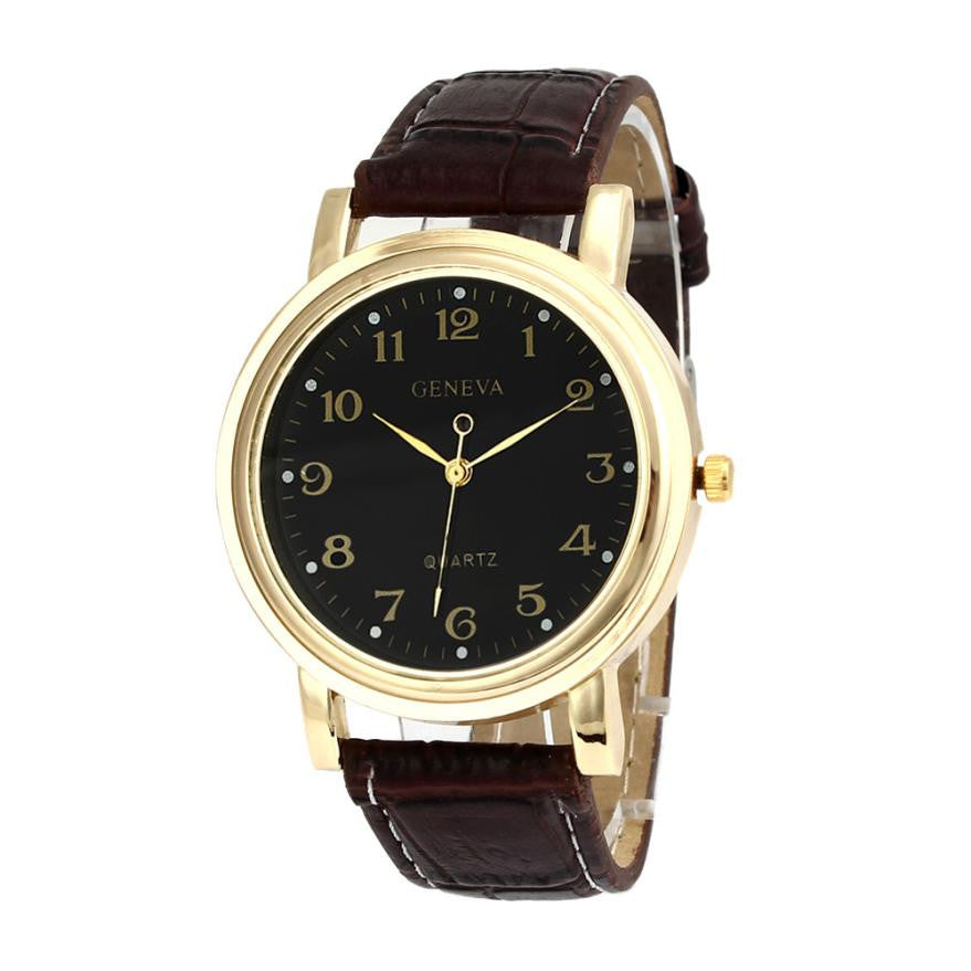 Women With Faux Leather Analog women watches Quartz Wrist Watch
