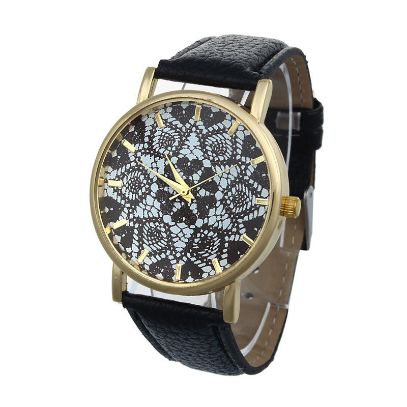Women Retro Style Watch with PU Leather