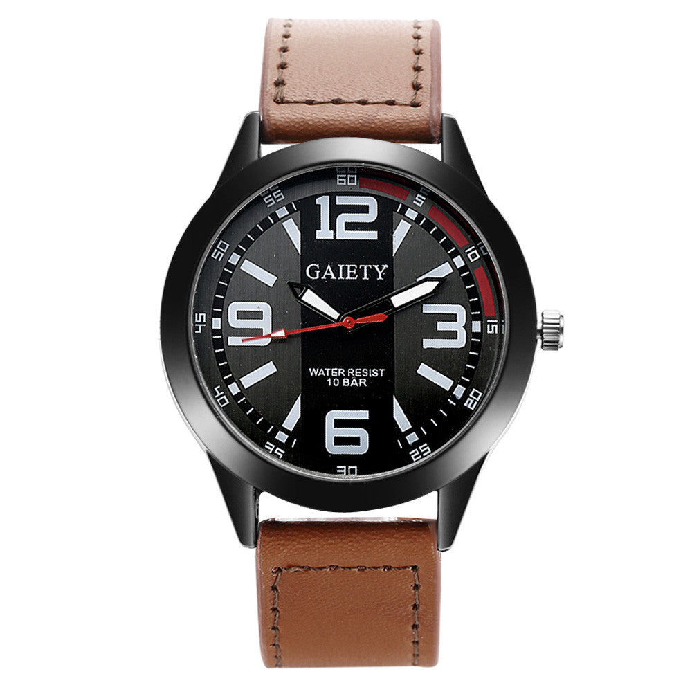 Men Military Quartz Watch PU Leather Wrist Watch